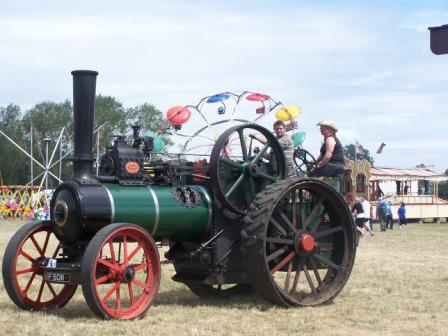Ransomes sims and jefferies traction engine.