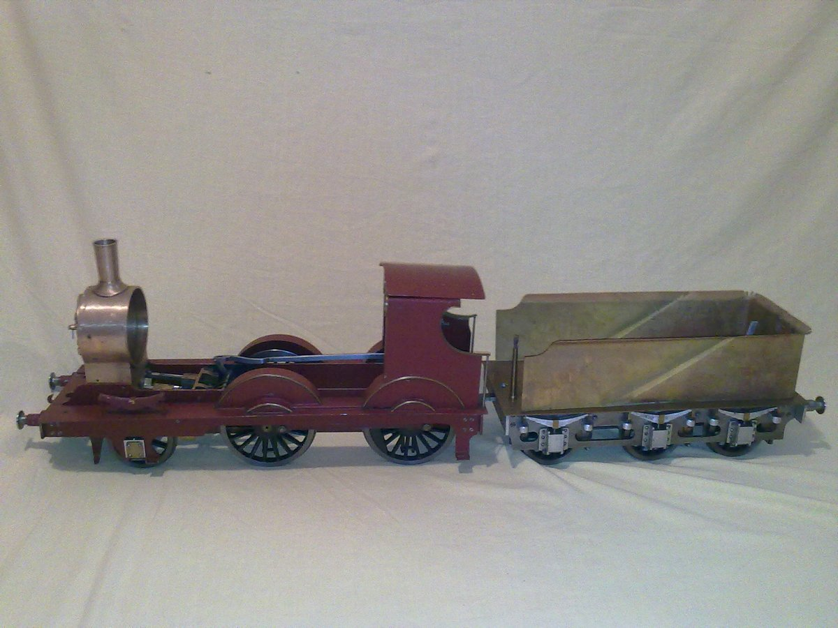 Petrolea 2-4-0   3.5inch tender engine by lbsc.  : Click image for fullsize