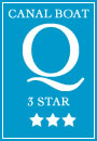3 Star rating for 10 berth Owl class canal boat