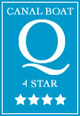 4 Star rating for 4 berth Medway class canal boat