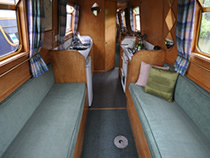 The Ophelia  Canal Boat Interior