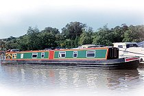 The Black Headed Bunting canal boat.  This boat is a Bunting boat class