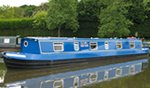 The Chapmans Rusty  Canal Boat Exterior