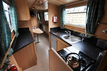 The Collared Dove  Canal Boat Interior