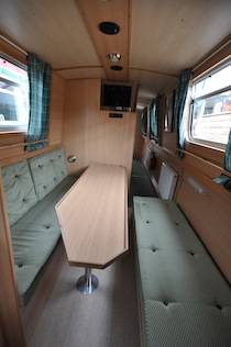 The Tufted Duck  Canal Boat Interior