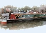 The Short Toed Eagle  Canal Boat Exterior