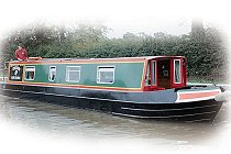 The Western Grebe canal boat.  This boat is a Grebe boat class