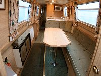 The Iceland Gull  Canal Boat Interior