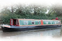 The Purple Heron canal boat.  This boat is a Heron boat class