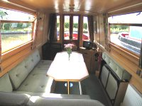 The Humblots Heron  Canal Boat Interior