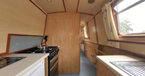 The Lesser Kestrel   Canal Boat Interior