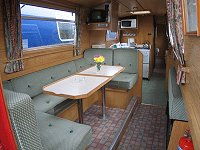 The Horned Lark  Canal Boat Interior