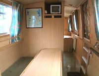 The Short Eared Owl  Canal Boat Interior
