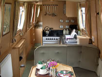 The Purple Sandpiper  Canal Boat Interior