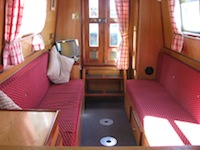 The Lochan Ora  Canal Boat Interior