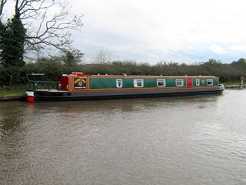 The White Wagtail canal boat.  This boat is a Wagtail boat class