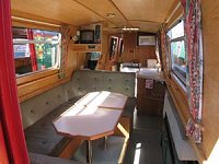 The Brown Weaver  Canal Boat Interior