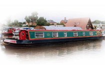 The Black Woodpecker canal boat.  This boat is a Woodpecker boat class