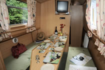 The Green Woodpecker  Canal Boat Interior
