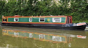 The Winter Wren canal boat.  This boat is a Wren boat class