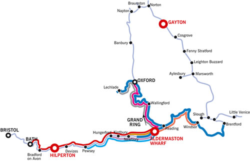 Aldermaston Wharf Cruising Map