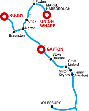 Aylesbury and Return Cruising Route Map