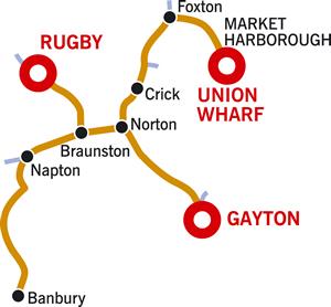 Banbury and Return Cruising Route Map