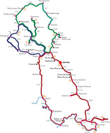 Gayton Cruising Routes Map