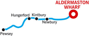 Pewsey and return Cruising Route Map