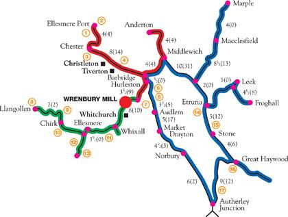 Wrenbury Cruising Routes Map